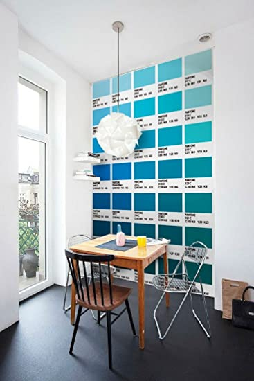 Pantone Fliesenaufkleber Blau Modell Wandfarben Ideen (Packung Mit 56)   10  X 10 Cm