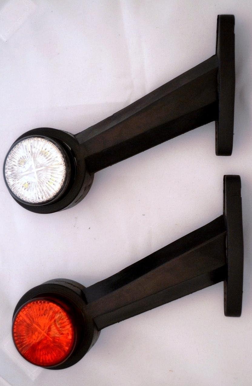 2 luces laterales de recuperación de 24 voltios, color blanco y rojo, para remolque, caravana, caravana o autocaravana