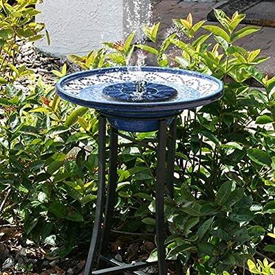 fiejns-zjy - Fuente Flotante con Bomba de Agua para jardín, para Tanque de baño de pájaros, One Color: Amazon.es: Jardín