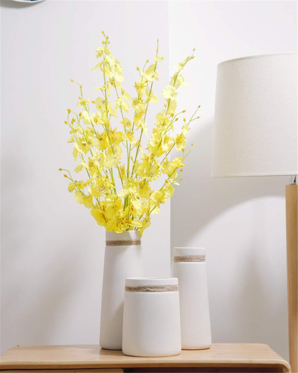 現代のシンプルなヨーロッパのセラミック花瓶の装飾品ホームデコレーションアクセサリー花瓶の結婚式の装飾、3本 B07QKH4B9Q B
