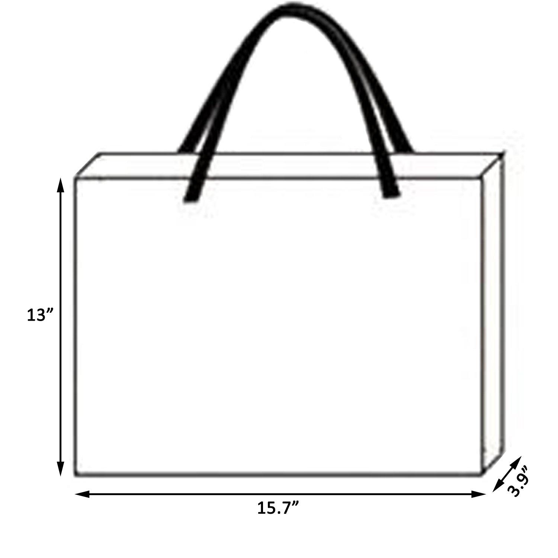 Rumcent Bling Glossy Glitter Durable Reusable Grocery Bag Tote Bag Handles Bag,Medium Non-woven Present Bag Gift Bag,Goodies Bag Shopping Bag,Promotional Bag,Set Of 5 -Gold Pattern
