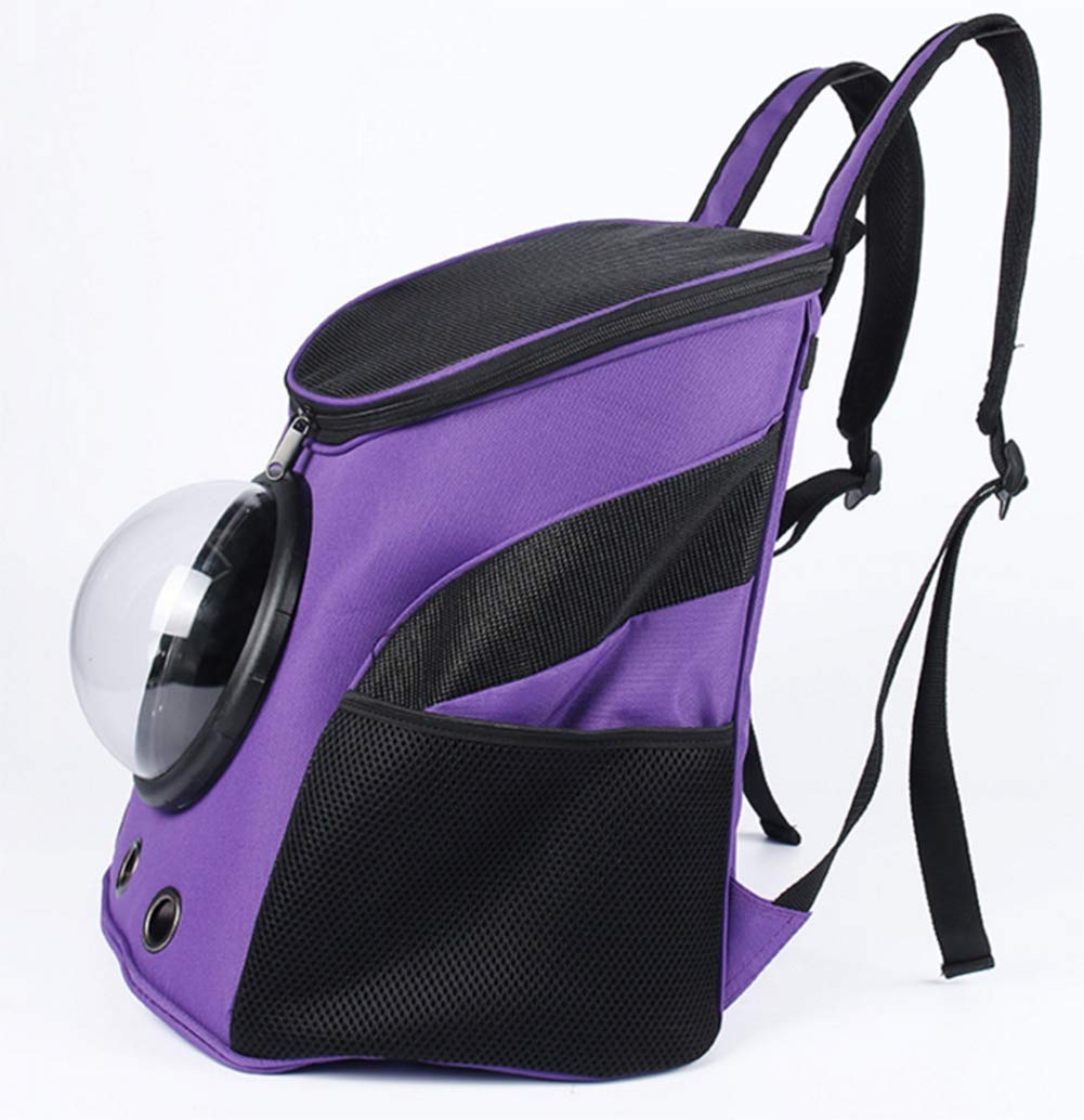 Purple Pet Travel Carrier Backpack SoftSided For Cycling Hiking Outdoor Sports