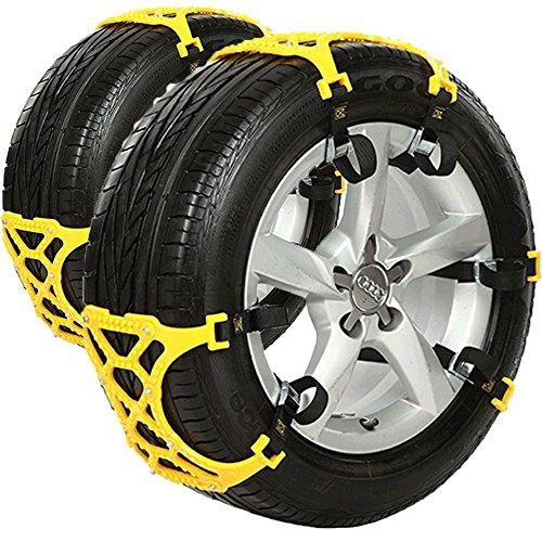 Autool 6pcs/set coche Nieve Tire Anti-Skid Cadenas Thickened Carne de Vacuno tendón Vehículos rueda Antiskid TPU Cadena