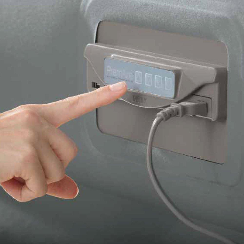 INTEX L/&G FR 64486 PREMAIR Fiber Tech Lit Gonflable Vinyle Gris 152 x 203 x 46 cm