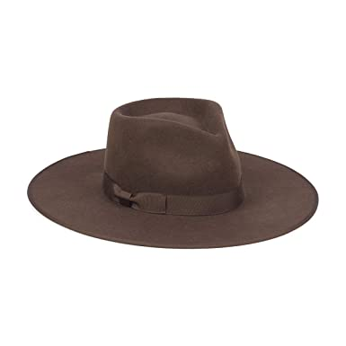 Lack of Color Women s Coco Rancher Wool Fedora Hat (Chocolate Brown ... e7224c81a13