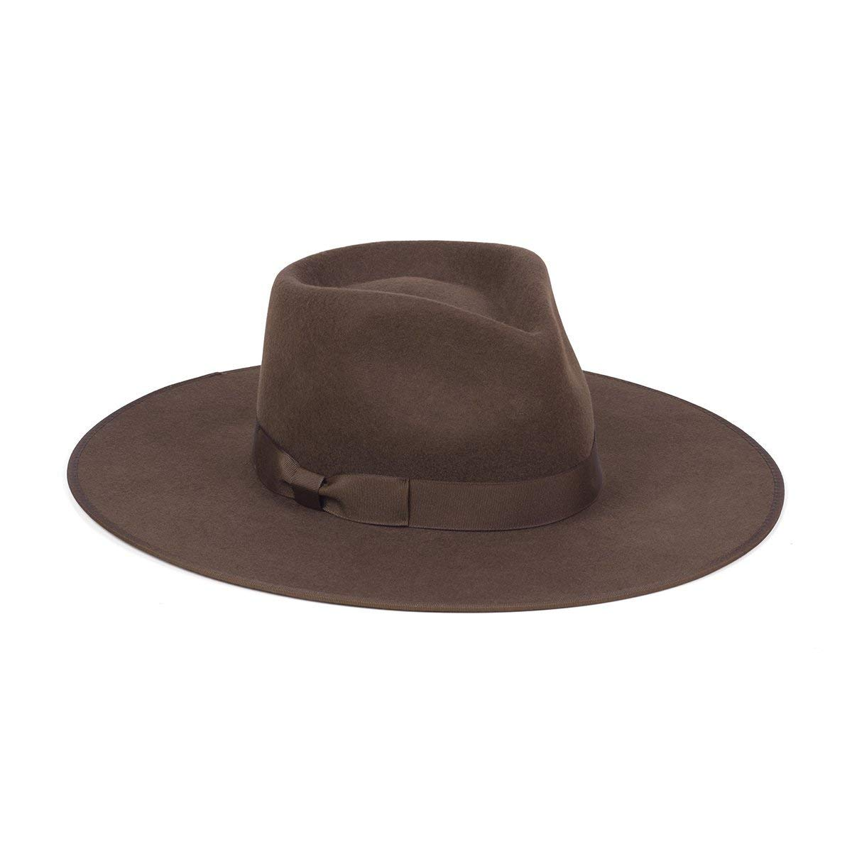 Lack of Color Women's Coco Rancher Wool Fedora Hat (Chocolate Brown, Medium (57cm))