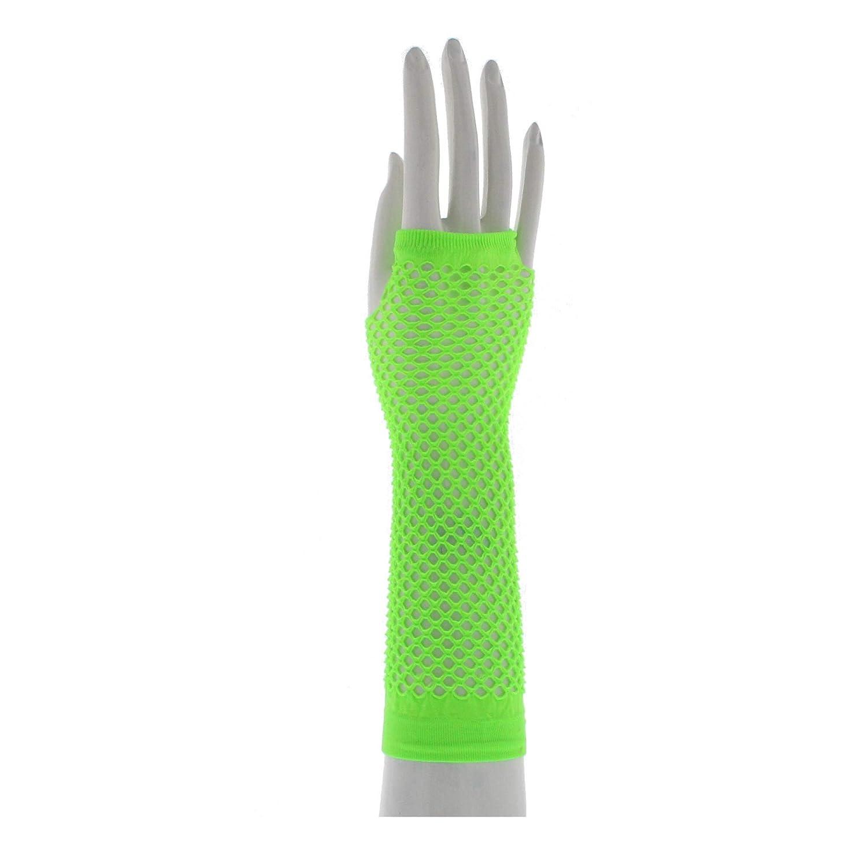 Zac's Alter Ego Women's Long Fishnet Fingerless Gloves Fancy Dress 80's