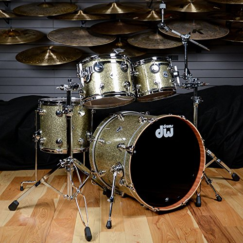 Dw Collectors Kit (DW Collectors Cherry/Mahogany 10/12/14/20 4 Pc Kit Gold Galaxy w/Chrome Hardware)