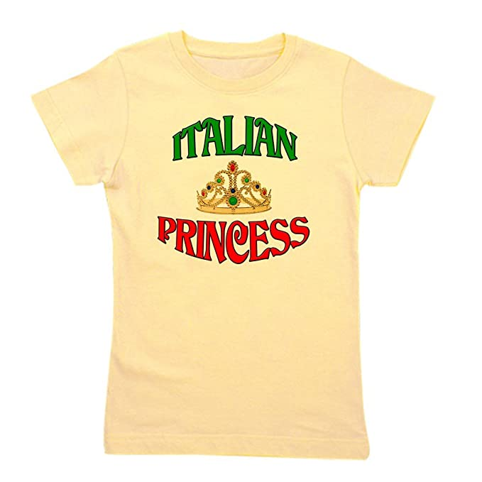 88d91373 CafePress - Italian Princess - Girl's Cotton T-Shirt, Cute Slim Fit Girl's  Shirt