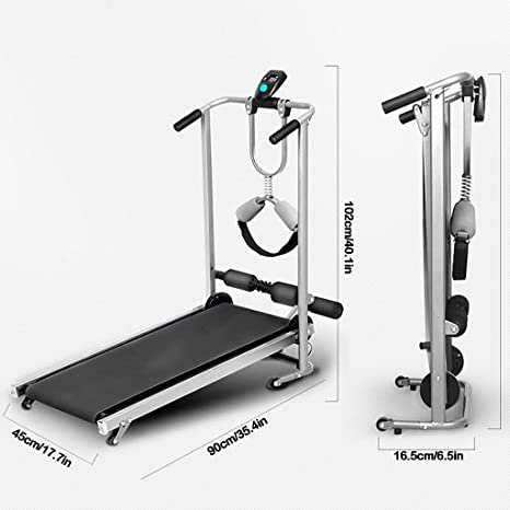 Treadmill For Home Portable,Double Folding Shock Running Massage 4 ...