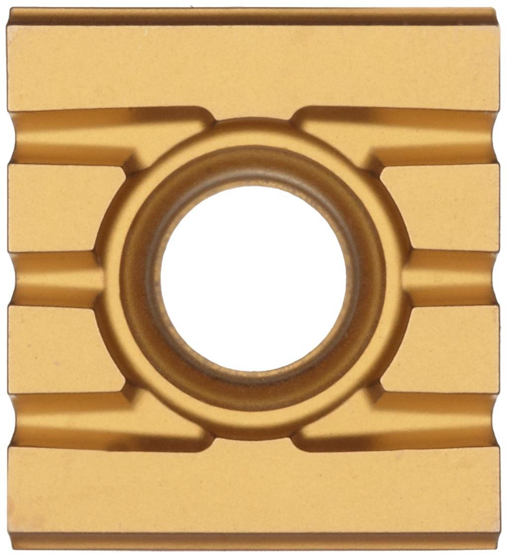 Pack of 10 0 Corner Radius GC235 Grade 215 Style Rectangular Sandvik Coromant T-MAX SCREW CLAMP  Carbide Milling Insert 21531211111,0.205 Thick TiCN Coating