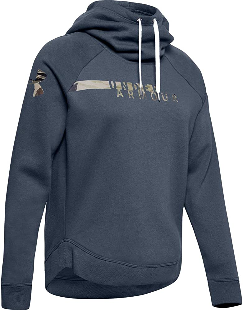 Under Armour Womens Favorite Fleece Camo Logo Pullover Hoodie