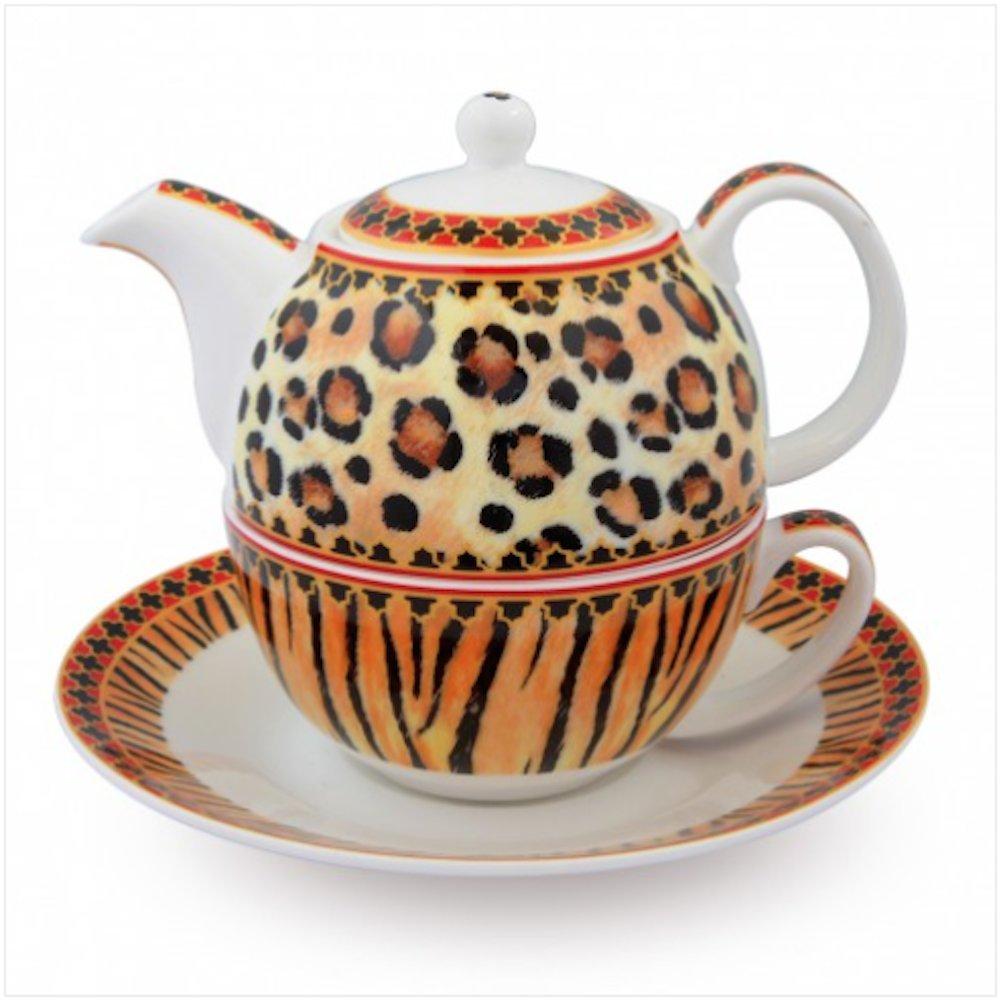 Halcyon Days Enamels Animal Print Tea For One Teapot