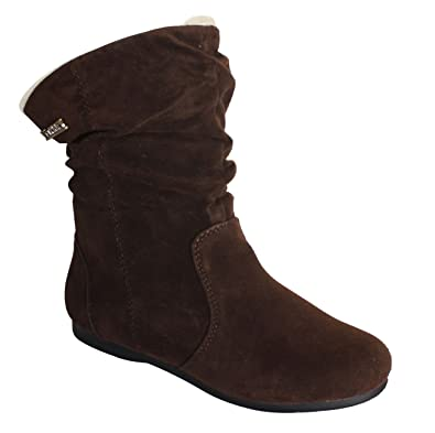 b7edb809791b Via PINKY Collection Carina-130 Women s Slouchy Microsuede Pull Up Mid-Calf  Flat Heel