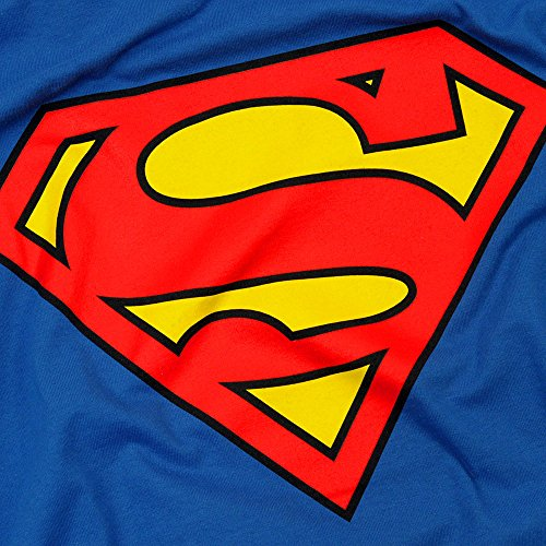 Superman Classic Logo T Shirt and Exclusive Stickers (XX-Large)