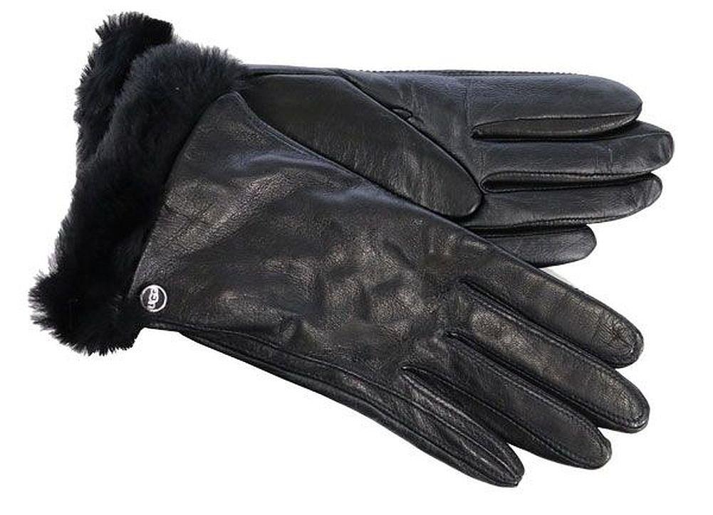 UGG Women's Classic Leather Smart Glove Black MD
