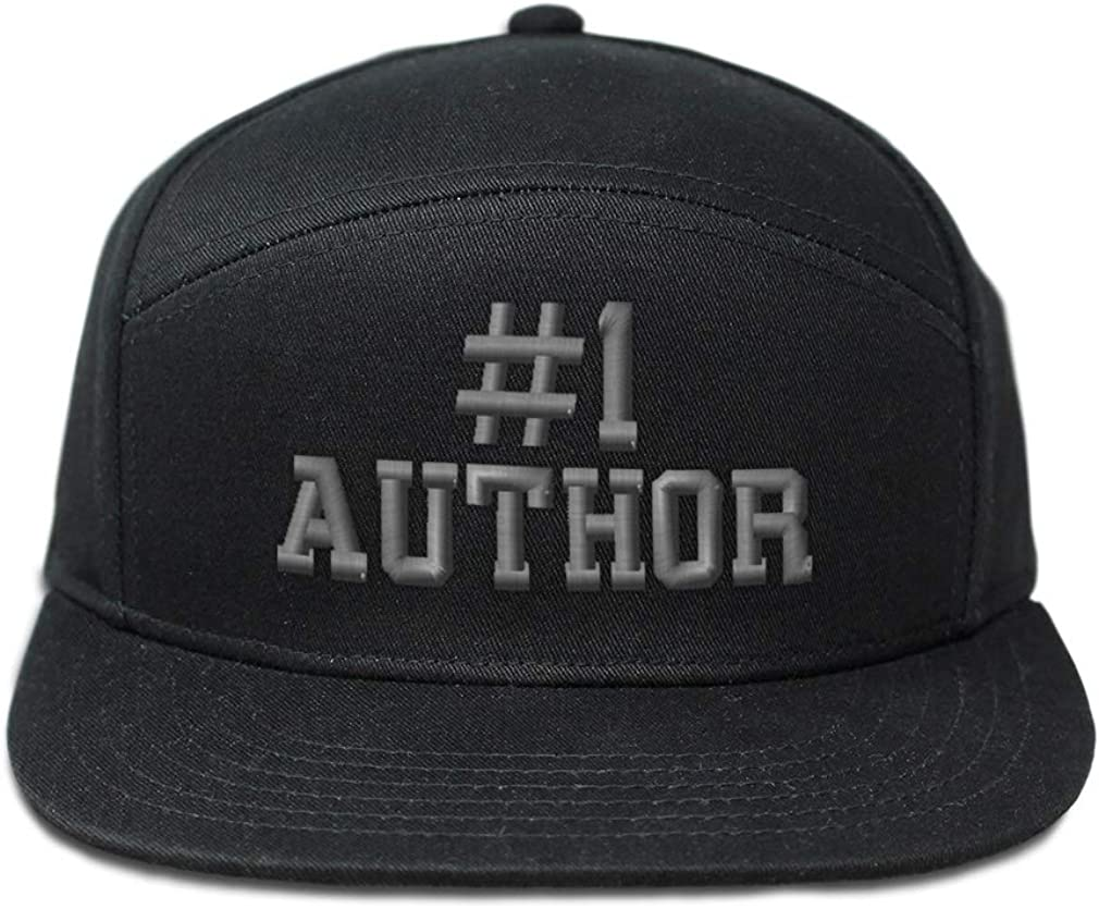 Custom Snapback Hats for Men /& Women Number #1 Author Embroidery Cotton Snapback