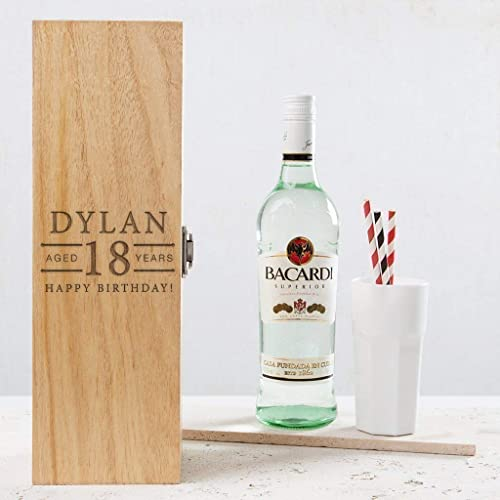 Personalised 18th Birthday Gifts For Boys Alcohol Box