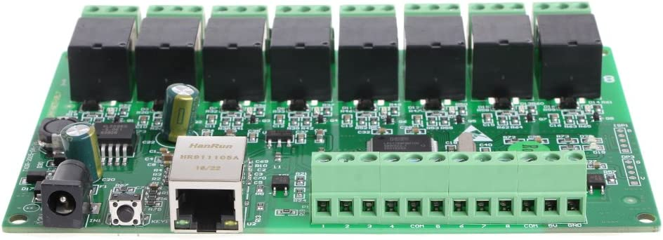 BIlinli 8-Kanal-Relay-IP-Relay-Web-Relay-Dual-Control-Ethernet-RJ45-Schnittstelle