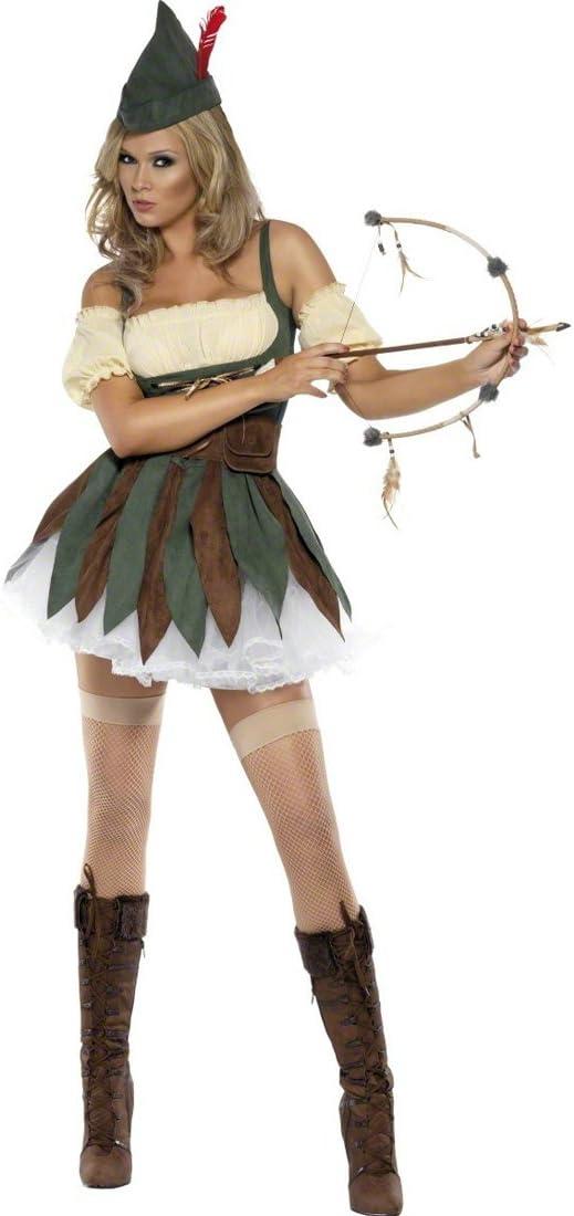 Arquera Disfraz Robin Hood Mujer S 36/38 Ropa Elfo Cuento de Hadas ...