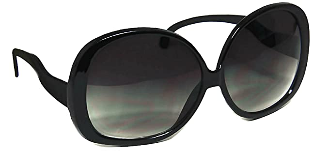 6ec2a57a18 Women s Designer Style Vintage Oversized Sunglasses-Assorted Brands (XL  Black Gloss)
