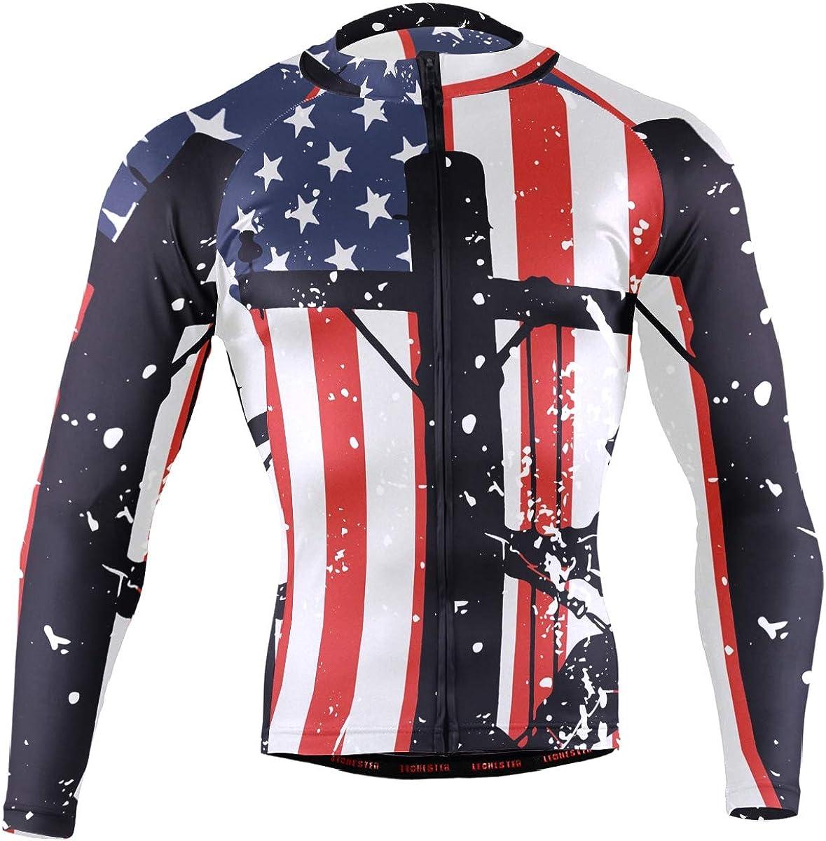 XUWU Mens Cycling Jersey Realtree Camo Long Sleeve Riding Tops Bike Jacket