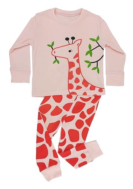 d159a703e Floorey Girls Pyjamas Giraffe 2 Pieces Pajamas set 100% Cotton (All ...