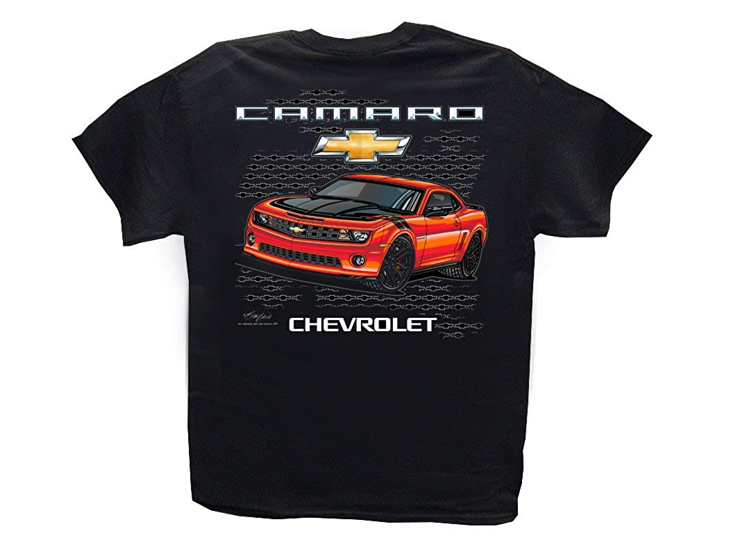 25867b64 Amazon.com: New Chevrolet Camaro Black T-Shirt: Chevy 2010-2017 SS Z/28  ZL1: Clothing