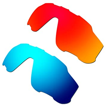 b72772a1eb HKUCO Mens Replacement Lenses For Oakley Jawbreaker Sunglasses Red Blue  Polarized