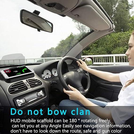 LEIWOOR Soporte Universal de navegación para GPS para Coche, Soporte para teléfono móvil, proyector de reflexión Multifuncional, Soporte para teléfono móvil ...