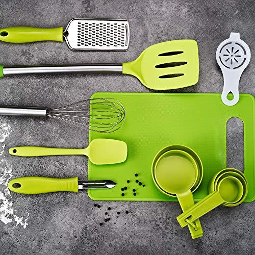 New 42Pcs Cooking Utensil Set Stainless Steel Kitchen Gadget Tool Nylon Handles