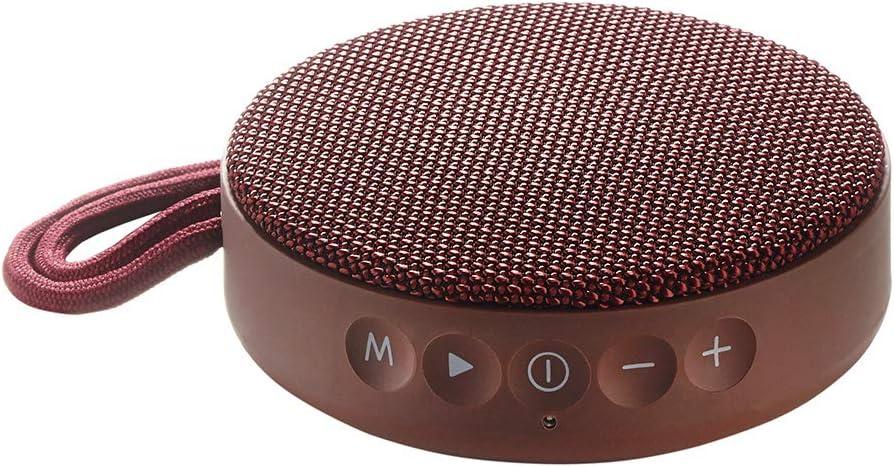 Vieta Pro Round Up - Altavoz inalámbrico (Bluetooth, radio FM, reproductor USB, entrada micro SD, auxiliar, micrófono integrado) grana