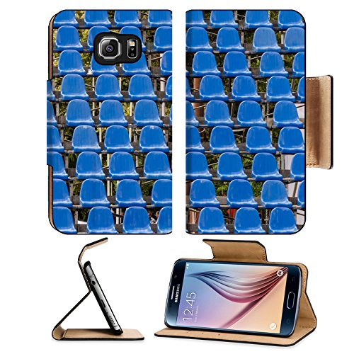 MSD Premium Samsung Galaxy S6 Flip Pu Leather Wallet Case Plastic seats for concerts IMAGE 29903472