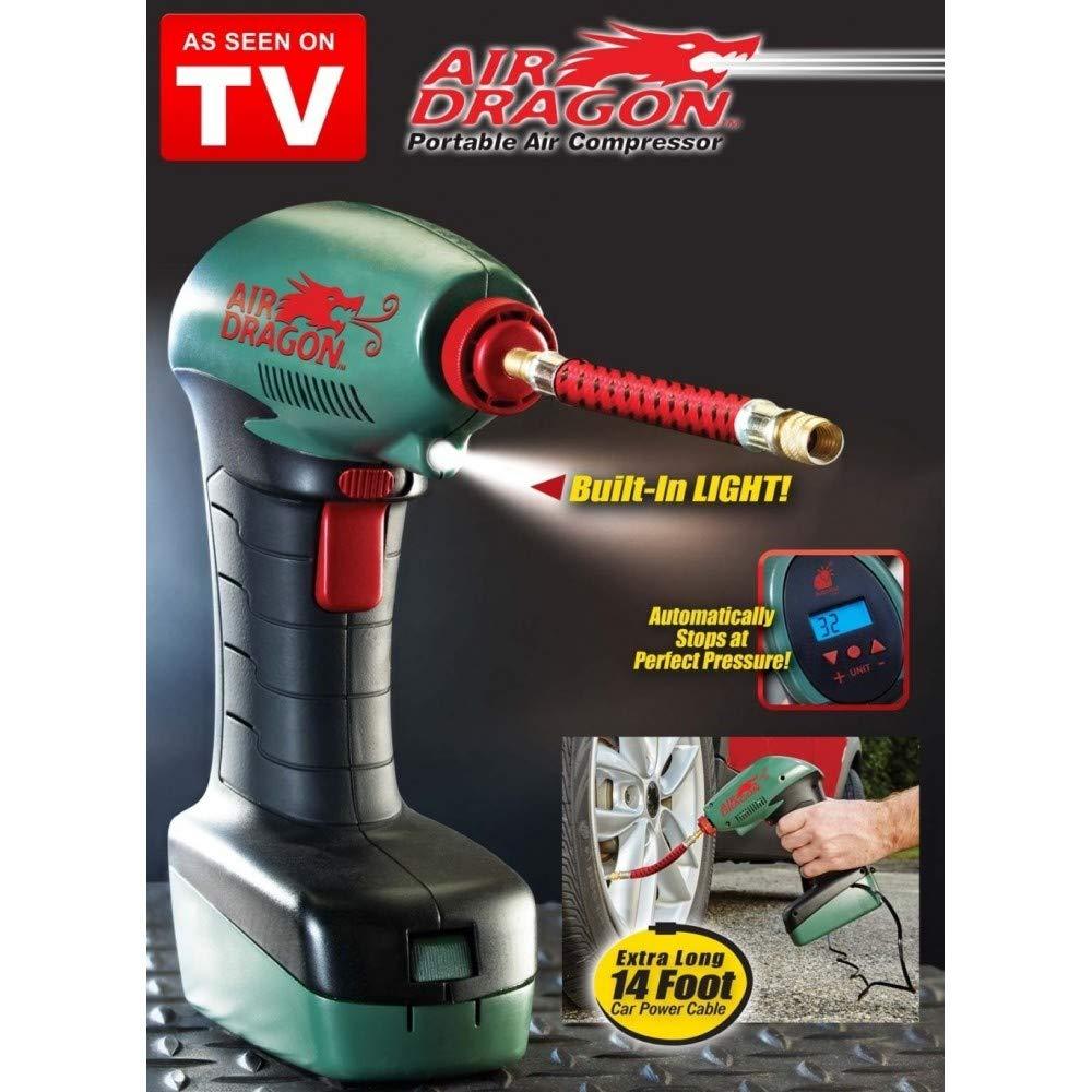 Compresor de aire portátil TradeShopTraesio®, con luz LED ...