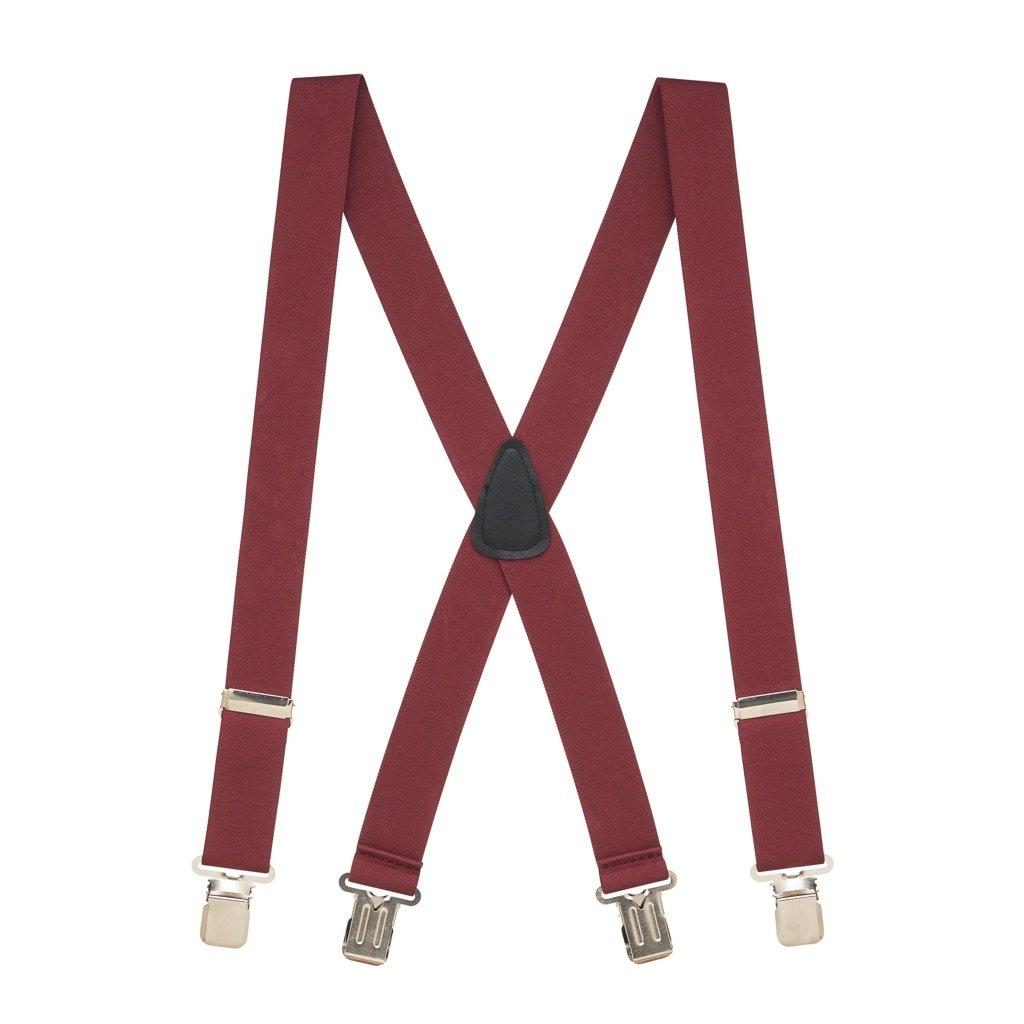 SuspenderStore Mens 1.5-Inch Wide Construction Clip Suspenders 0-BOSTON-15-CC-PARENT 4 sizes, 12 colors