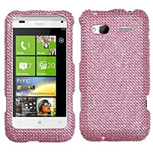 Pink Bling Gem Jeweled Crystal Cover Case for HTC Radar 4G O95G