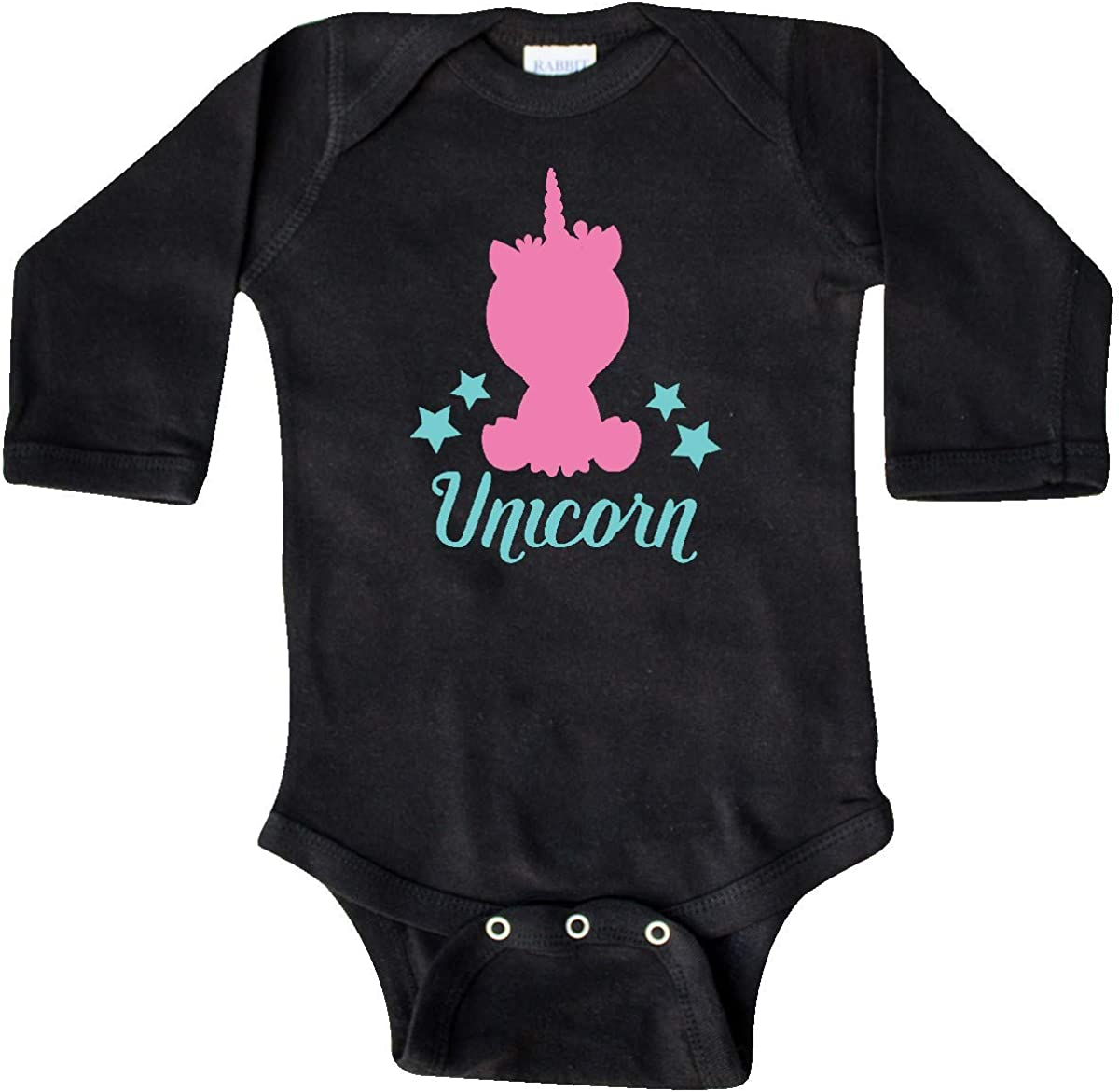 Pink Blue Long Sleeve Creeper Little Unicorn inktastic Unicorn Silhouette
