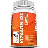 NutriZing Supplemento Vitamina D3 1000 IU, 90 capsule