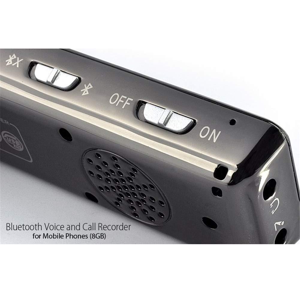 QLPP Grabadora de Voz Digital inal/ámbrica Bluetooth grabadora de Sonido Compatible con grabaci/ón de Llamadas telef/ónicas activada por Voz funci/ón de protecci/ón con contrase/ña