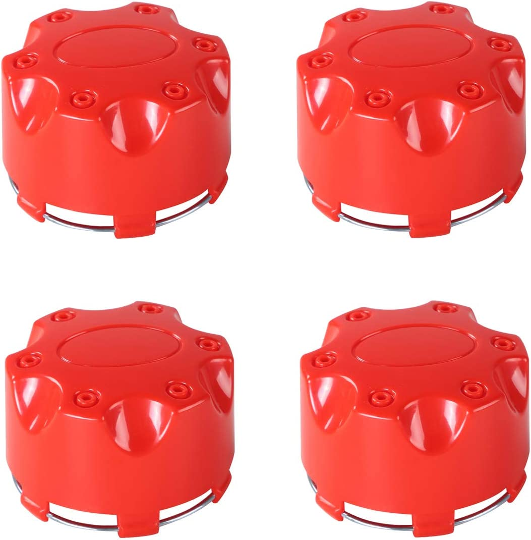 4pcs Hub Caps Wheel Center Cap Compatible with Polaris RZR ACE Sportsman Ranger 1521509-521 Orange