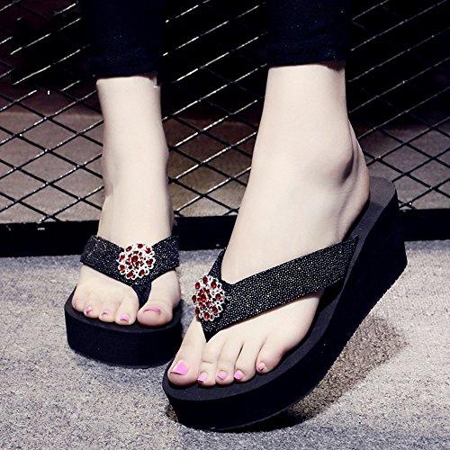 di le ad Pendente tempo HAIZHEN alto moda 1003 il antisdrucciolevoli estivo passo donne caratteri pistoni Pantofole donna scarpe i Per Per femminile diamante dei del Sandali con libero da libero p7Uzq