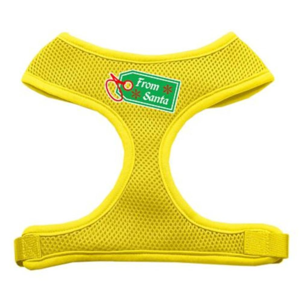 Mirage Pet Products from Santa Tag Screen Print Mesh Dog Harnesses, Medium, Yellow