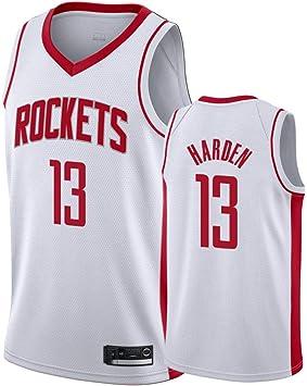 TSHULY NBA Rockets 13# Harden City Edition Bordado Cosido Jersey de los Hombres Camiseta de Baloncesto: Amazon.es: Deportes y aire libre