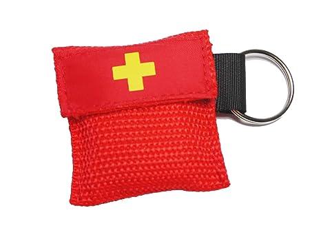 Rojo CPR máscara respirador de ventilación con mascarilla de ...