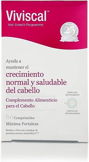 Viviscal Máxima Fortaleza, Capsulas Nutritivas con vitaminas para el cabello - 60 cápsulas (MAX-V2)