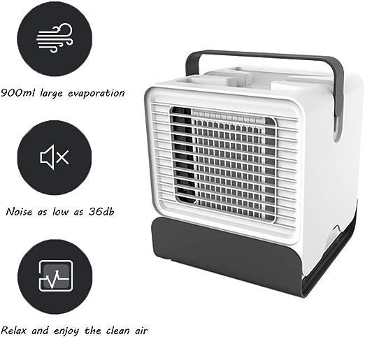 SDYBFS Aire Acondicionado Portátil, Climatizador Evaporativo, Ventilador De Escritorio, Humidificador, Tanque De Agua Independiente Sin Fugas De Agua, Purificador De Aire Personal USB: Amazon.es: Hogar
