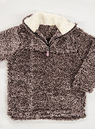 Girl's 1/4 Zip Long Sleeve Pebble Pile Casual Sherpa Fleece Pullover by STKAT (Image #3)