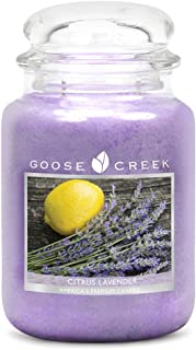 product image for Goose Creek Citrus Lavender with Glass Lid Essential Series Jar Candle, 22 oz