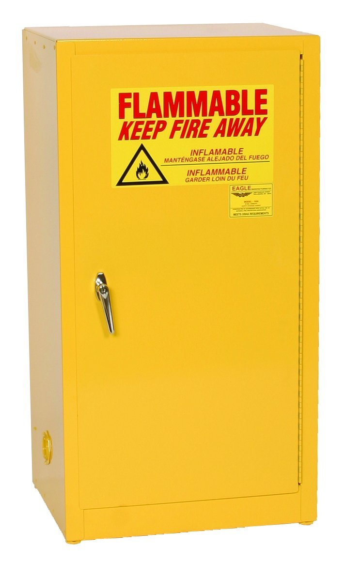 Eagle Safety Cabinet for Flammable Liquids, 1 Manual Door, Steel ...