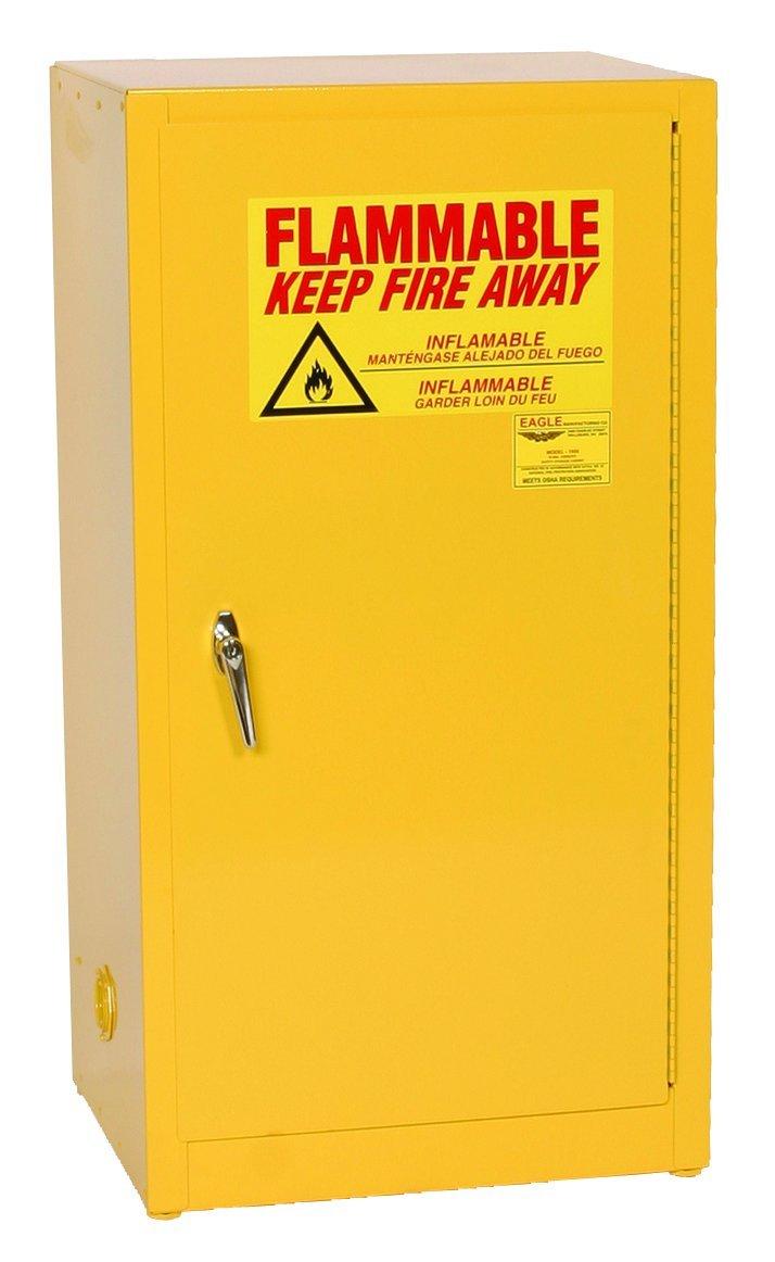 Eagle Safety Cabinet For Flammable Liquids, 1 Manual Door, Steel, Yellow:  Hazardous Storage Cabinets: Amazon.com: Industrial U0026 Scientific
